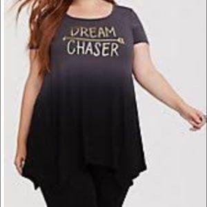 Torrid Dipdye Grey/Black Dream Chaser Top NWT | 1